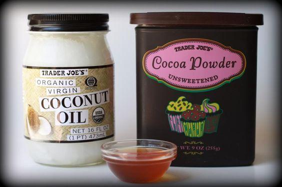 9. Masque à l'huile de coco, au miel et au cacao en poudre