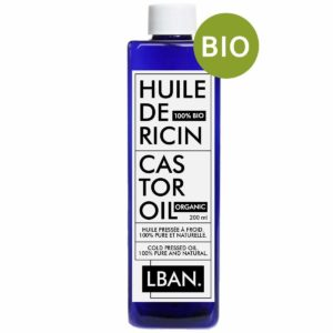 Huile de Ricin 100% BIO & Pure - LBAN - 200 ml - Soin pour Cheveux, Cils, Ongles, Peau