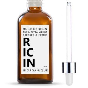 Huile de Ricin 100% Bio, Pure et Naturelle - 50 ml - Soin pour Cheveux, Cils, Ongles, Peau