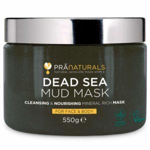 Masque facial et corporel de boue de la Mer Morte 100 % naturel PraNaturals Naturellement riche en minéraux nourrissant